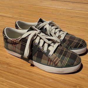 Polo Ralph Lauren Giles Plaid Shoes Men's 10.5 NEW